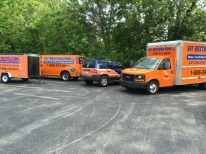 Water Damage Restoration Trucks